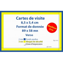 Carte de visite 1er prix 59.00€ttc pour 1000