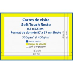 Cartes de visite Soft Touch - carte de visite pas chères IPEO - Vincent COSSET