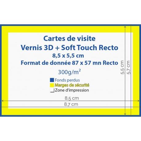 Cartes de visite  3D + Soft Touch - IPEO - Vincent COSSET - imprimerie