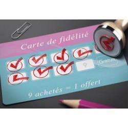 Cartes de fidélité avec tampon pas chères - IPEO - Vincent COSSET